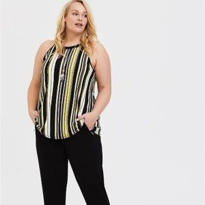 TORRID STRIPE STUDIO KNIT GODDESS TANK